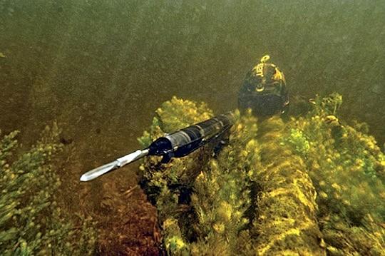 Подводная охота методом залежки
