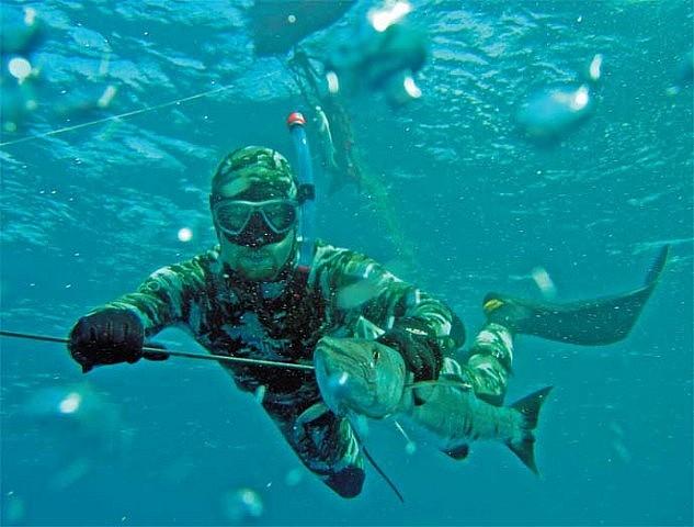 Подводная охота методом сплава
